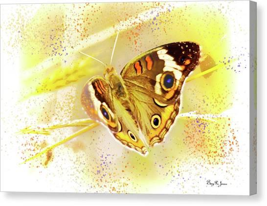 Canvas Print featuring the digital art Happy Buckeye by Barry Jones
