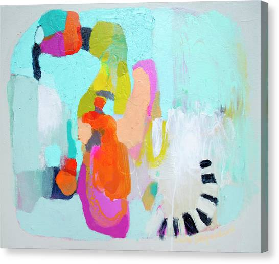 Canvas Print - Happy Came To Visit Me by Claire Desjardins