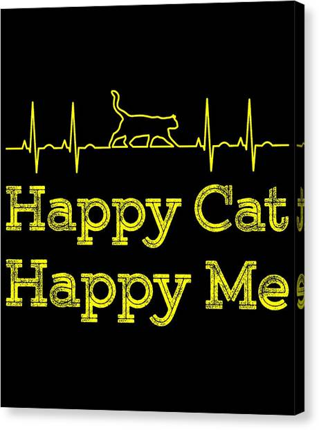 Ocicats Canvas Print - Happy Cat Happy Me1 by Kaylin Watchorn