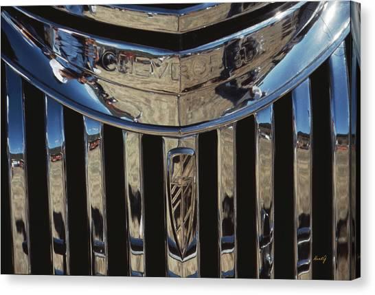 Happy Chevrolet  Canvas Print by Kurt Gustafson