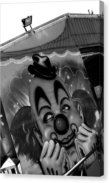 Happy Clown Canvas Print by Jez C Self