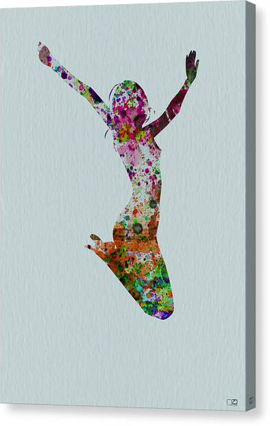 Costume Canvas Print - Happy Dance by Naxart Studio