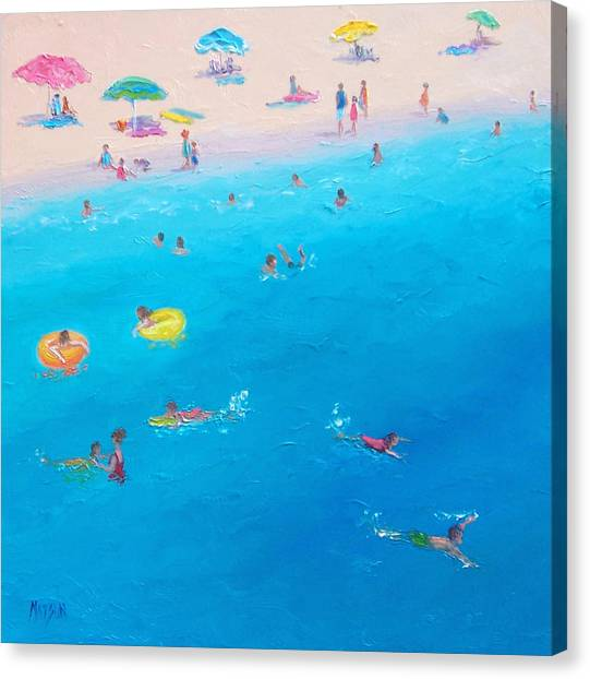 Summer Holiday Canvas Print - Happy Days At The Seaside by Jan Matson