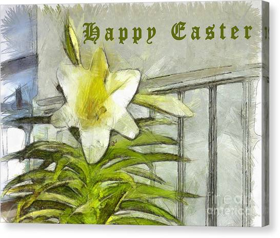 Canvas Print featuring the photograph Happy Easter Lily by Claire Bull