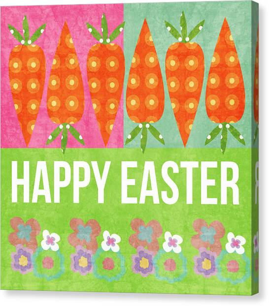 Easter Canvas Print - Happy Easter by Linda Woods