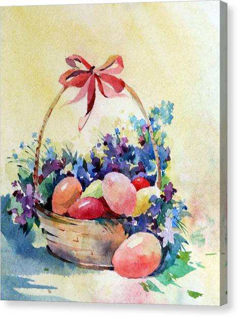 Canvas Print - Happy Easter by Natalia Eremeyeva Duarte