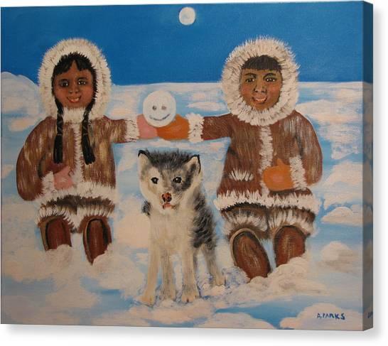 Happy Eskimo's Canvas Print