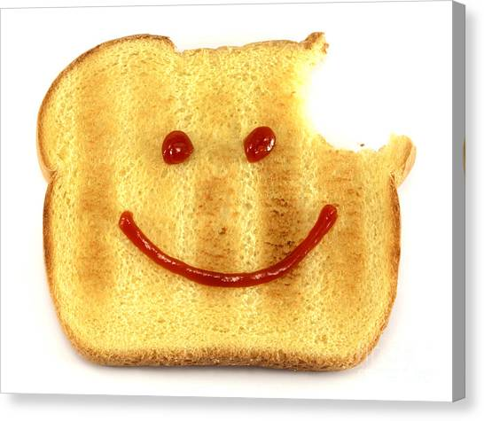 Sandwich Canvas Print - Happy Face And Bread by Blink Images