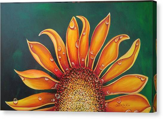 Happy Flower Canvas Print
