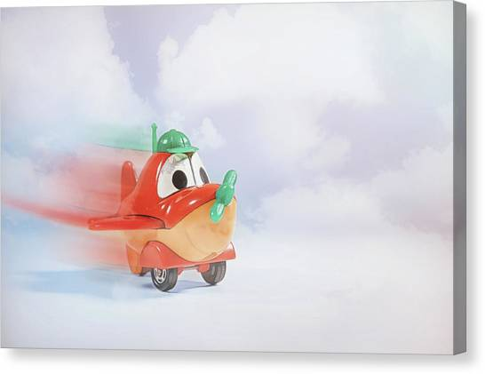 Toy Airplanes Canvas Print - Happy Flying by Scott Norris