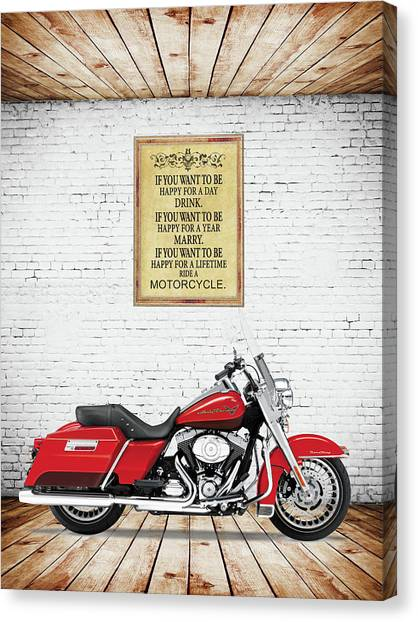 Hogs Canvas Print - Happy For A Lifetime by Mark Rogan