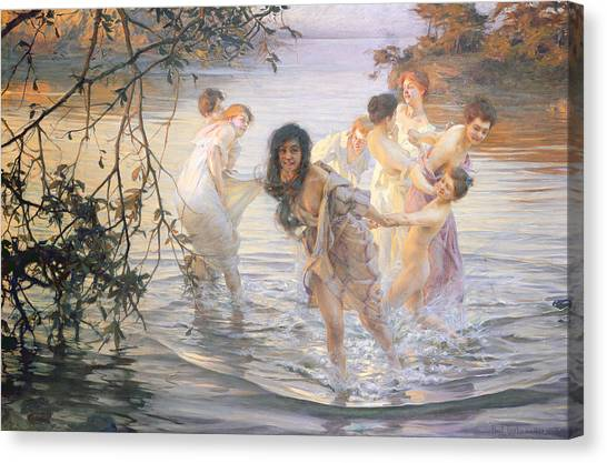 Wetlands Canvas Print - Happy Games by Paul Chabas
