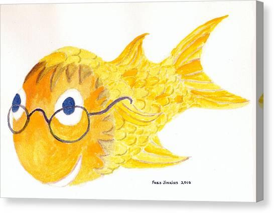 Happy Golden Fish Canvas Print