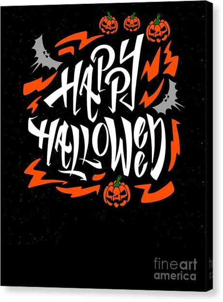 Canvas Print - Happy Halloween Pumpkin by Thomas Larch