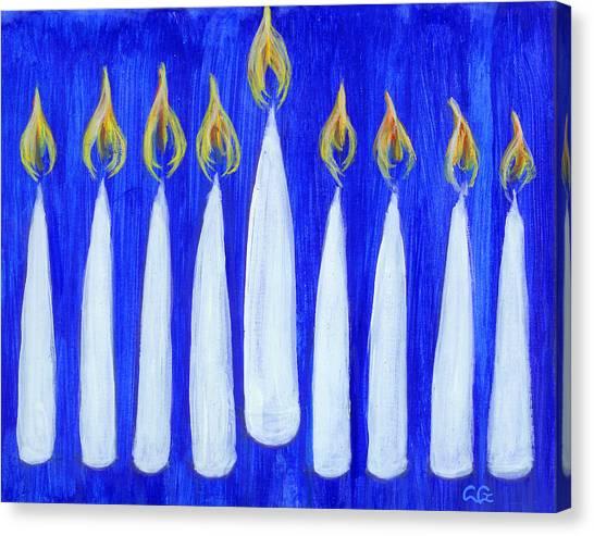 Happy Hanukkah Canvas Print by BlondeRoots Productions