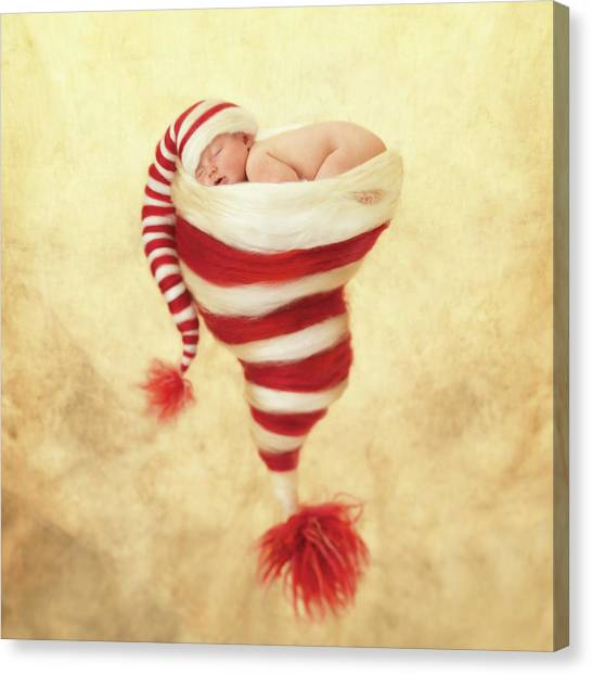 Christmas Canvas Print - Happy Holidays by Anne Geddes