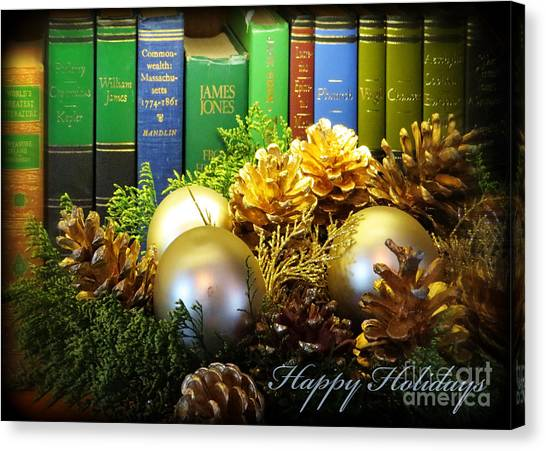 Happy Holidays Books Canvas Print