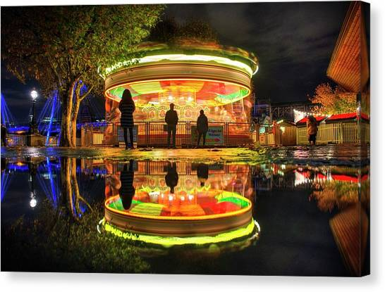 Canvas Print featuring the photograph Happy Holidays by Quality HDR Photography