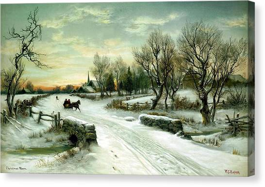 Landscape Travelpics Canvas Print - Happy Holidays by Travel Pics