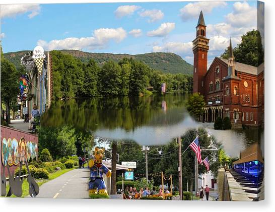 Happy In Easthampton Collage Canvas Print