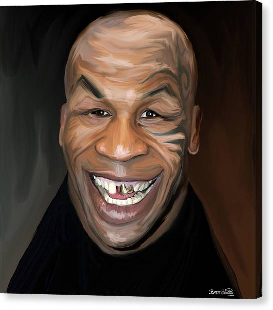 Happy Iron Mike Tyson Canvas Print