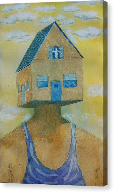 'happy Is The House' Canvas Print