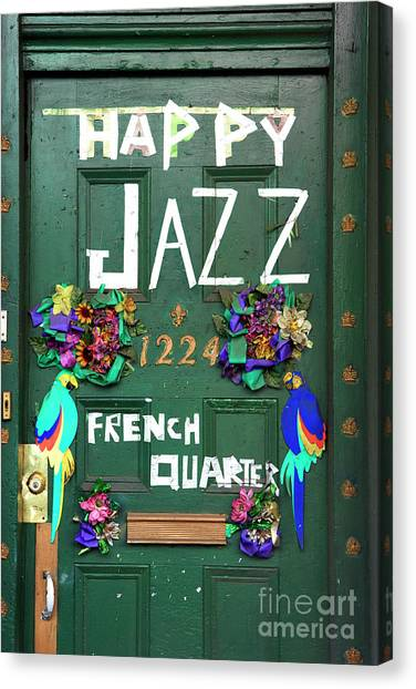 Happy Jazz French Quarter New Orleans Canvas Print