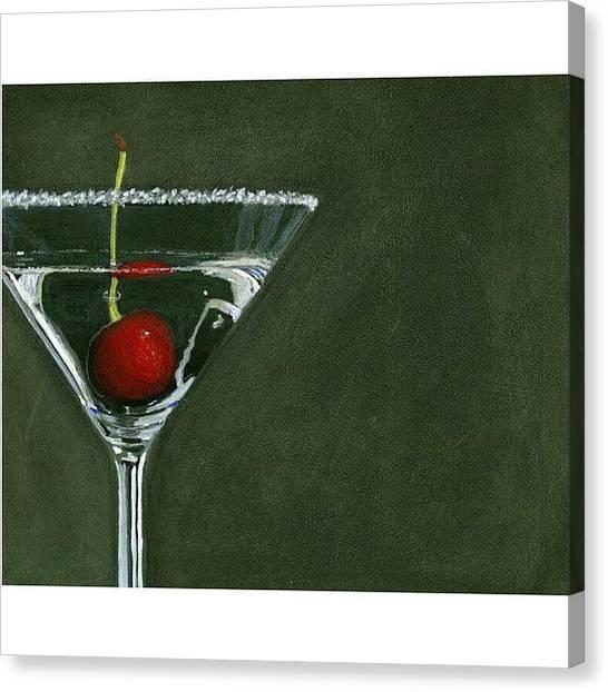 Martini Canvas Print - Happy by Karyn Robinson
