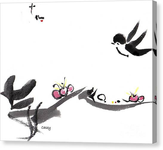 Happy Little Swallow Canvas Print