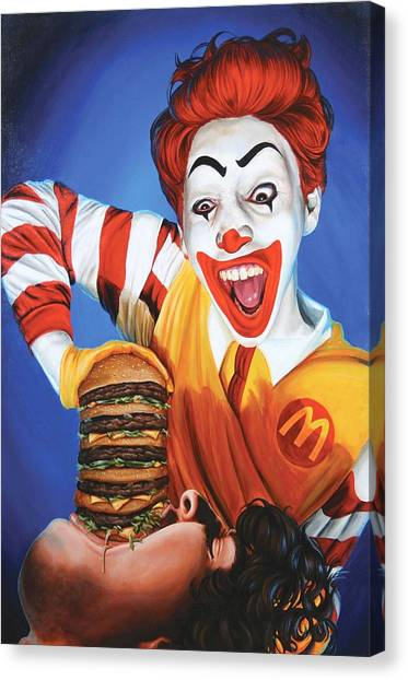 Burger Canvas Print - Happy Meal by Kelly Gilleran