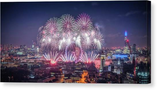 Happy New Year 2018 Canvas Print