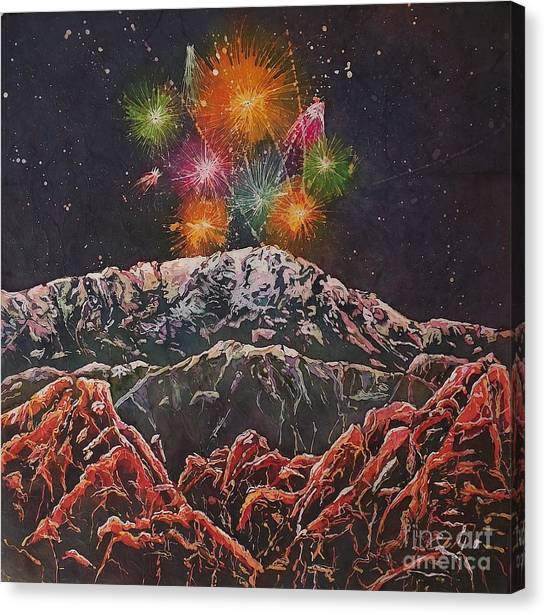 Happy New Year From America's Mountain Canvas Print