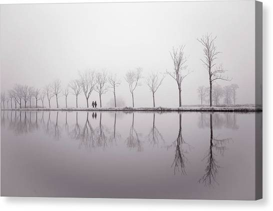 Hoar Frost Canvas Print - Happy New Year - Reflections by Roeselien Raimond