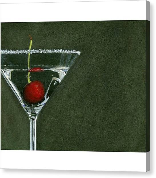 Martini Canvas Print - Happy New Year! Wishing Everyone A by Karyn Robinson