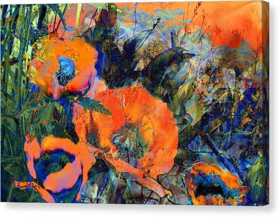 Happy Poppies Canvas Print by Anne Weirich
