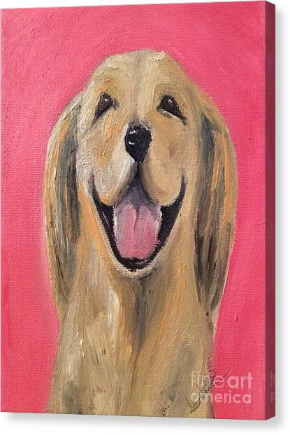 Happy Pup Canvas Print