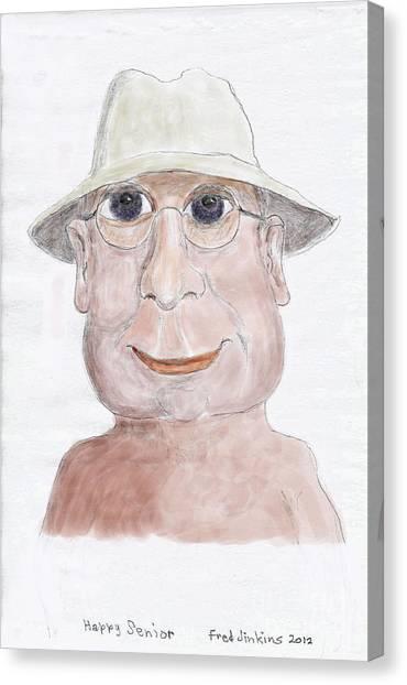 Happy Senior Canvas Print