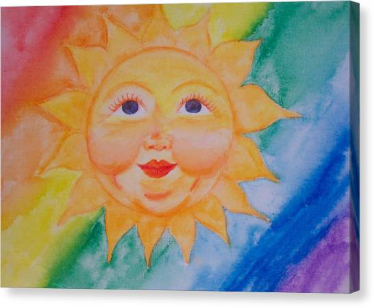 Happy Sun Canvas Print by Jennifer Hernandez
