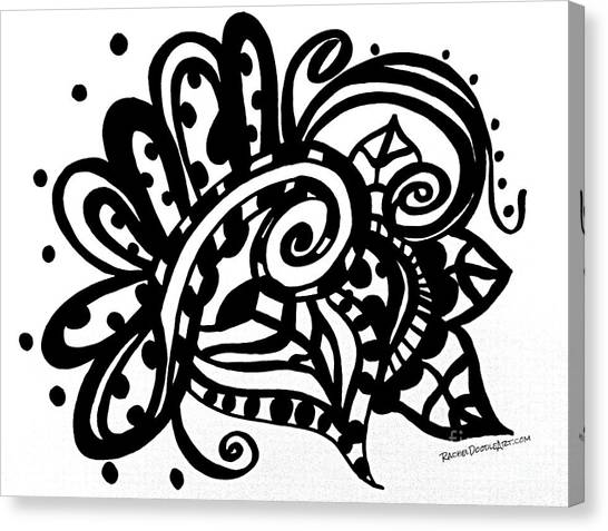 Canvas Print featuring the drawing Happy Swirl Doodle by Rachel Maynard