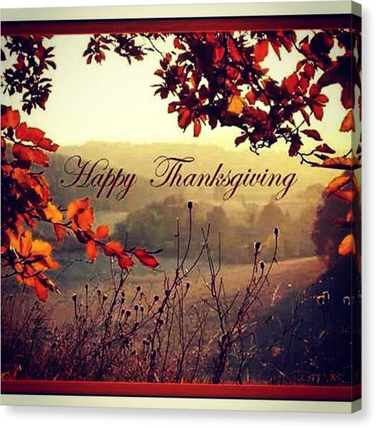 Stuffing Canvas Print - Happy Thanksgiving To Everyone A Lot Of by Robert Zarzuela