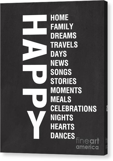 Meals Canvas Print - Happy Things by Linda Woods