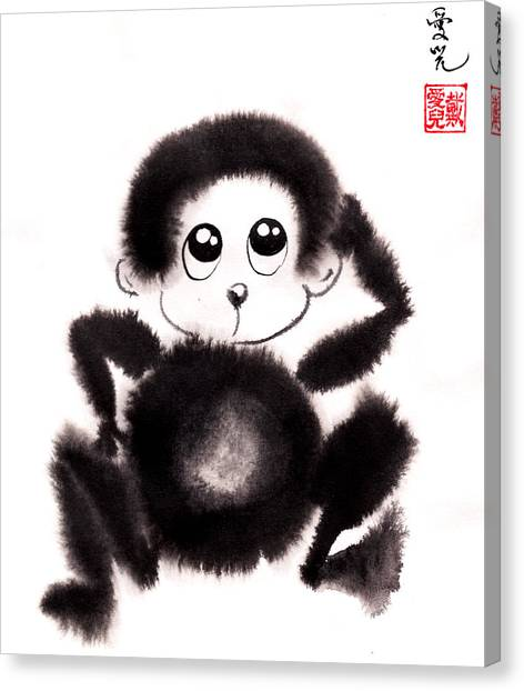 Happy Year Of The Monkey Canvas Print
