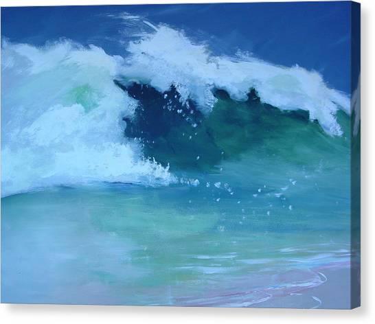 Hapuna Beach Shore Stack Canvas Print