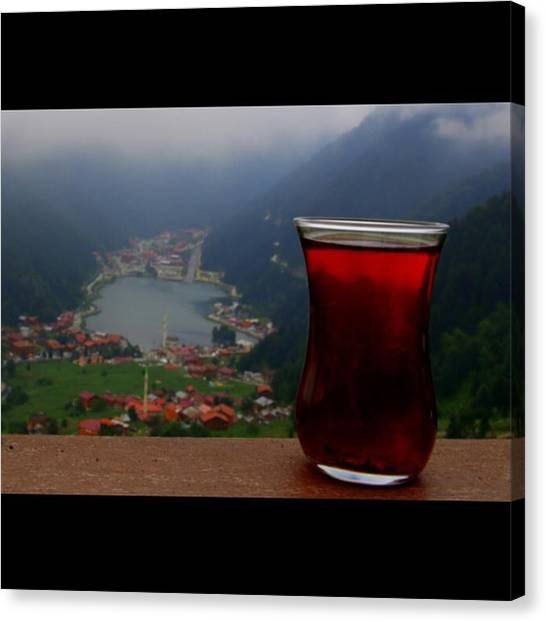 Tea Canvas Print - Harareti Alır  #çay #tea #turkishtea by Ozan Goren