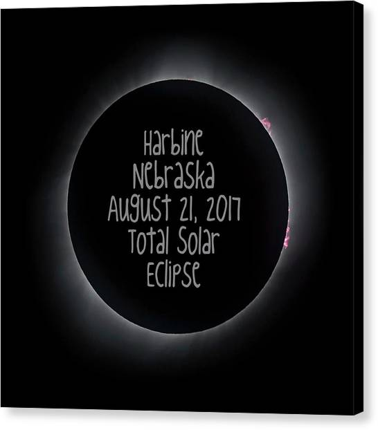 Harbine Nebraska Total Solar Eclipse August 21 2017 Canvas Print