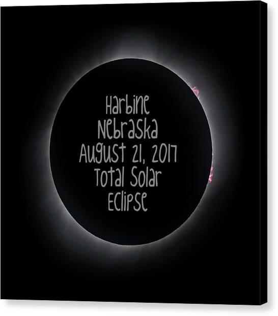 Harbine Nebraska Total Solar Eclipse August 21 2017 Canvas Print
