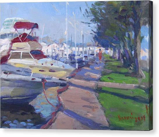 Harbor Canvas Print - Harbor At North Tonawanda by Ylli Haruni