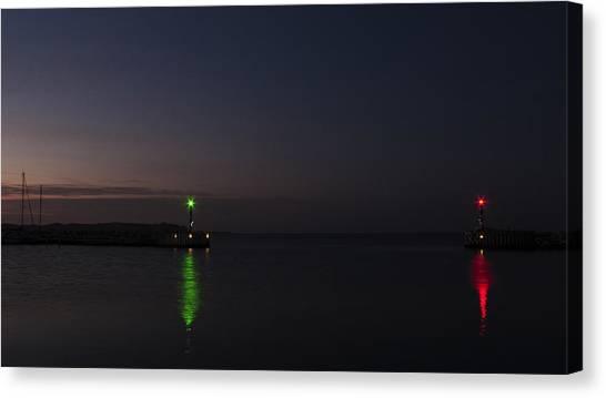 Harbor Evening Canvas Print by Kim Lessel