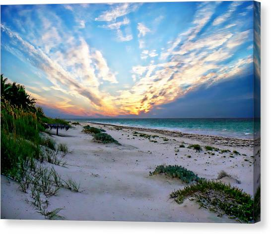 Harbor Island Sunset Canvas Print