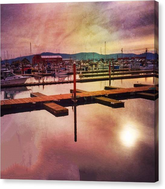 Canvas Print featuring the photograph Harbor Mood by Chriss Pagani